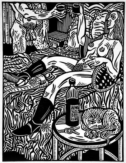 Arte - Desenho de Alfredo Benavídez Bedoya, que ilustra a edição da Tordesilhas